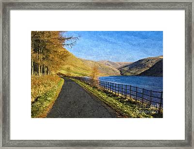 Talla Reservoir Scottish Borders Photo Art Framed Print