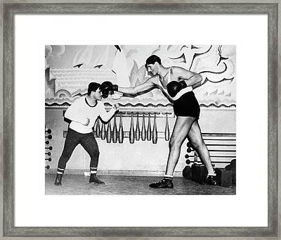 Tallest Boxer Gogea Mitu Framed Print by Underwood Archives