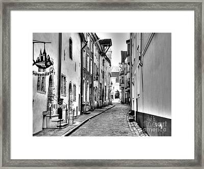 Tallin Street Esti Framed Print