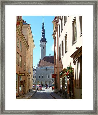 Tallinn City Hall Framed Print