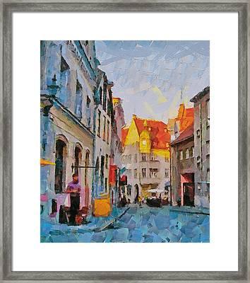 Tallinn City Scape Framed Print by Yury Malkov