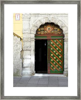 Tallinn Doorway Framed Print
