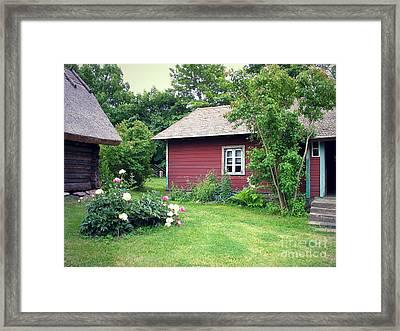 Framed Print featuring the photograph Tallinn Historic Village by Art Photography