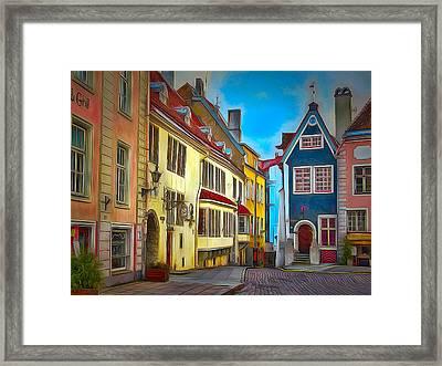 Tallinn Old Town 2 Framed Print by Yury Malkov