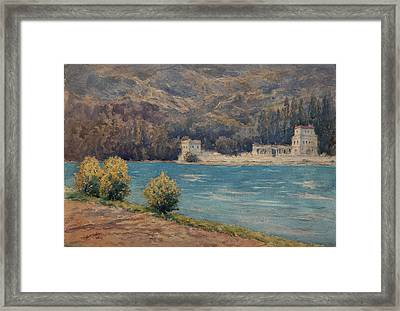 Talloires When Visiting Albert Besnard  Framed Print by Henri Duhem