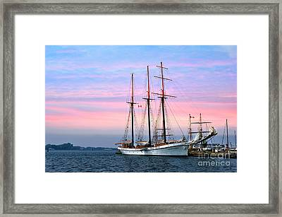 Tallship Empire Sandy Framed Print