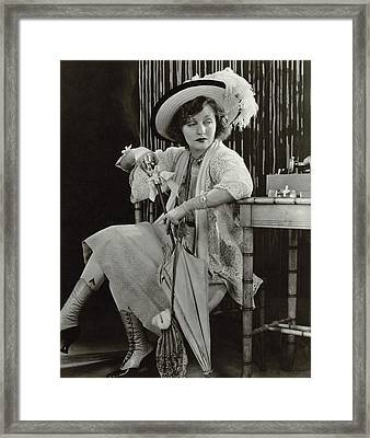 Tallulah Bankhead As Sadie Thompson In Rain Framed Print