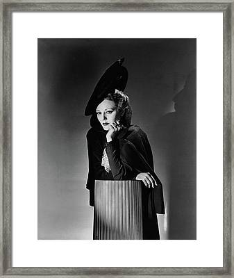 Tallulah Bankhead For The Play The Little Foxes Framed Print by Horst P. Horst