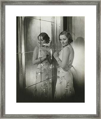 Tallulah Bankhead In A Chiffon Dress Framed Print by Cecil Beaton