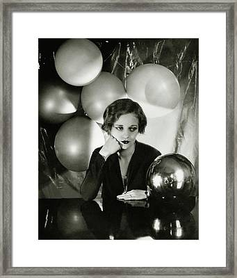 Tallulah Bankhead Surrounded By Balloons Framed Print by Cecil Beaton