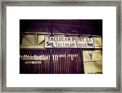 Tallulah Point Framed Print by Brandon Addis