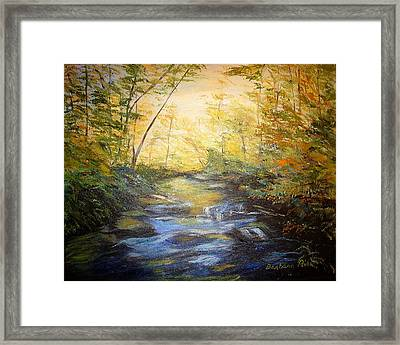 Tallulah River Color Framed Print by Barbara Pirkle