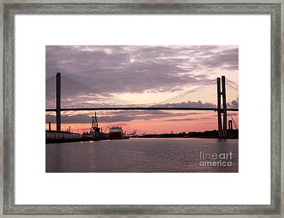 Talmadge Memorial Bridge Framed Print