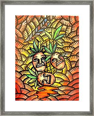 Talupan Ang Pinya Peel The Pineapples Framed Print