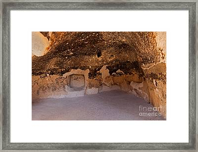 Talus Housefront Room Bandelier National Monument Framed Print