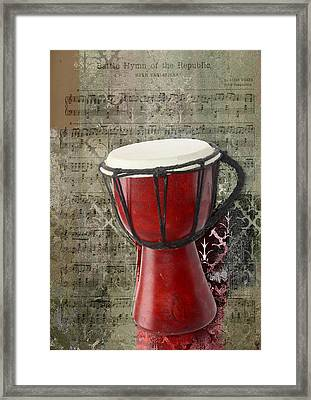 Tam Tam Djembe - S02a Framed Print by Variance Collections