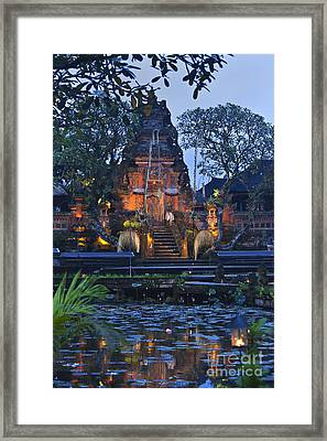 Taman Saraswati Temple Bali Framed Print