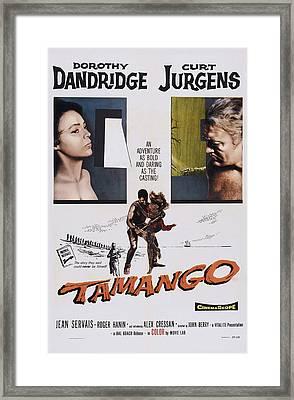 Tamango, From Left Dorothy Dandridge Framed Print by Everett
