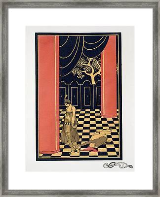 Tamara Karsavina Framed Print by Georges Barbier