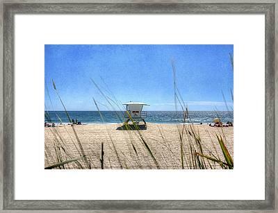Tamarack Beach Framed Print by Ann Patterson