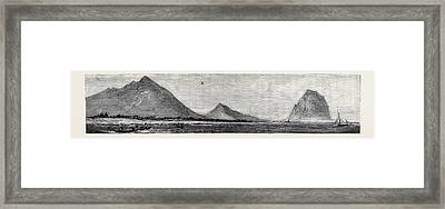 Tamarind Bay, With The  Morne Rock, Once The Hiding-place Framed Print by English School