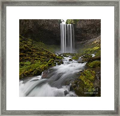 Tamawanas Falls In Summer Framed Print by Jackie Follett