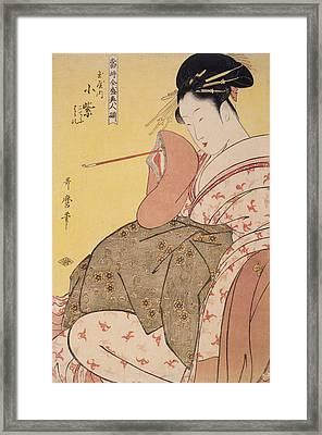 Tamaya Uchi Komurasaki, Kochô, Haruji = Komurasaki Framed Print by Artokoloro