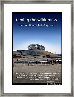 Taming The Wilderness Framed Print by Mike Hoyle