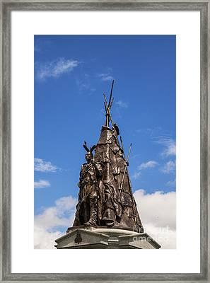 Tammany Regiment Monument At Gettysburg Framed Print by John Greim