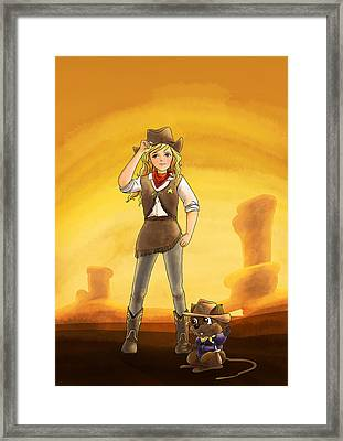 Tammy And Alfred Tame The West Framed Print