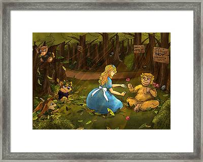 Framed Print featuring the painting Tammy And The Baby Hoargg by Reynold Jay