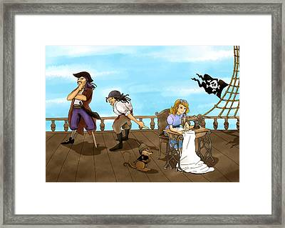Framed Print featuring the painting Tammy And The Pirates by Reynold Jay