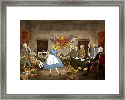 Tammy In Independence Hall Framed Print by Reynold Jay