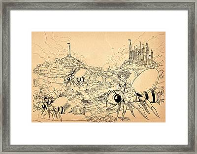 Framed Print featuring the drawing Flight Over Capira by Reynold Jay