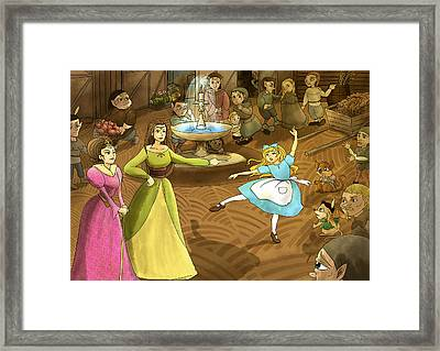 Framed Print featuring the painting Tammy In The Town Square by Reynold Jay