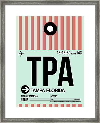 Tampa Airport Poster Framed Print by Naxart Studio