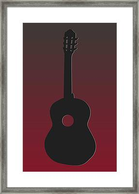 Tampa Bay Buccaneers Guitar Framed Print by Joe Hamilton