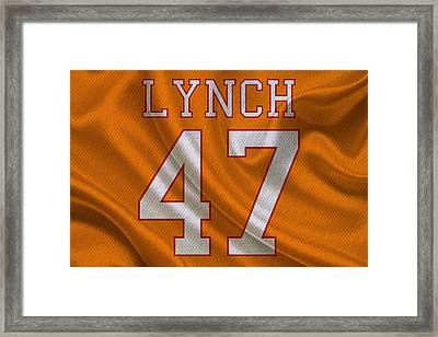 Tampa Bay Buccaneers John Lynch Framed Print by Joe Hamilton