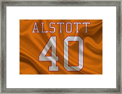 Tampa Bay Buccaneers Mike Alstott Framed Print by Joe Hamilton