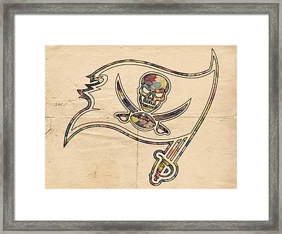 Tampa Bay Buccaneers Poster Art Framed Print by Florian Rodarte