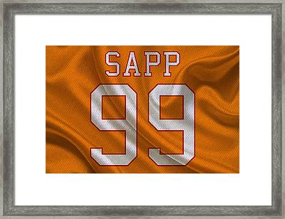 Tampa Bay Buccaneers Warren Sapp Framed Print by Joe Hamilton