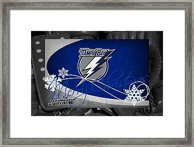 Tampa Bay Lightning Christmas Framed Print by Joe Hamilton