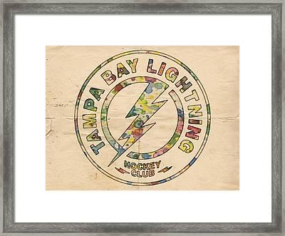 Tampa Bay Lightning Logo Art Framed Print