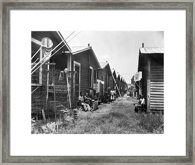 Tampa Bay Poverty Housing Framed Print by Underwood Archives