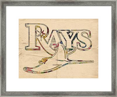 Tampa Bay Rays Logo Art Framed Print