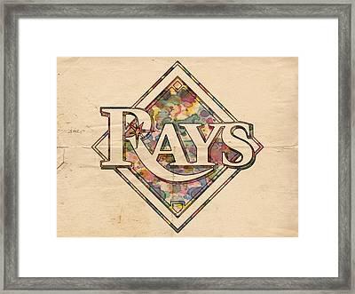 Tampa Bay Rays Vintage Art Framed Print