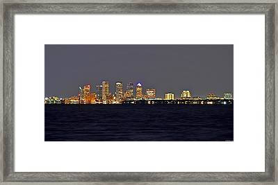 Tampa City Skyline At Night 7 November 2012 Framed Print by Jeff at JSJ Photography