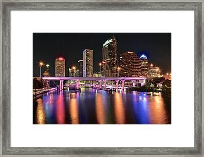 Tampa Lights Framed Print