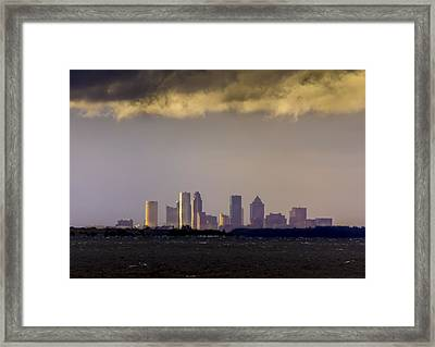 Tampa On The Horizon Framed Print