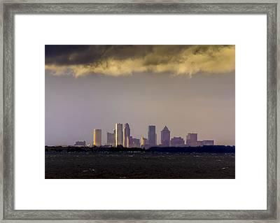 Tampa On The Horizon Framed Print